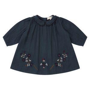 CARAMEL • Phoebe Baby Embroidered Dress